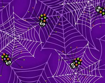 170087 Purple Spiders on Webs (glows in the dark), Fangtastic by First Blush Studio
