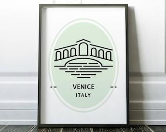 Wall Art Prints, Venice Wall Art, Minimalist Travel Poster, Venice Print, Minimalist Wall Art, Travel Print, Travel Poster, Italy Wall Art