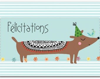 Greeting card! Congratulations - handmade 12.5 cm x 17 cm