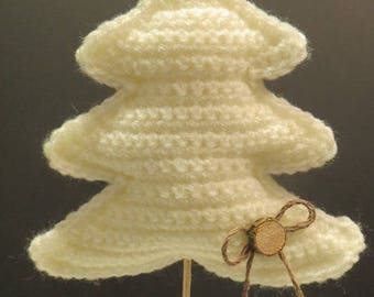 Tree stem and foot wooden crochet