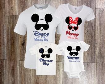 Disney Birthday Shirt, Family Disney Shirts, Mickey birthday Shirt, Minnie birthday Shirt, Mickey Dad shirt, Dad of the birthday Boy, Minnie