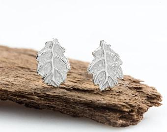 Sterling Silver Oak Leaf Stud Earrings, Oak Leaf Studs, Autumn Leaves, Gifts for Gardeners, Gifts For Her, Silver Earrings, Silver Studs