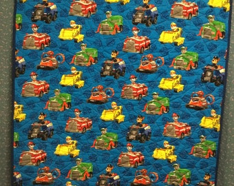 Toddler or Kid Quilt...Paw Patrol