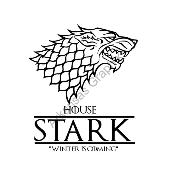 Game of Thrones House Stark Vector/Cuttable Files Eps, AI, Pdf and Svg
