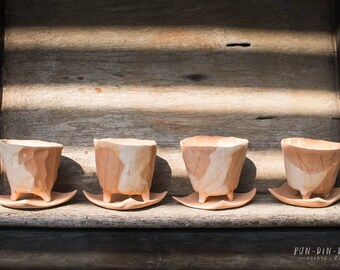 Two Tone Clay Pots