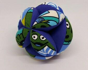 Montessori ball, Blue soft ball, Montessori material, Montessori soft ball, blue cotton ball,soft cotton ball,blue ball,Montessori toy ball