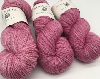 Soft pink - hand-dyed 8ply/DK yarn - 100g