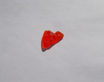 Small imprfect red sea  glass piece -  pretty nicked red - red beach glass for mosaics arts and crafts
