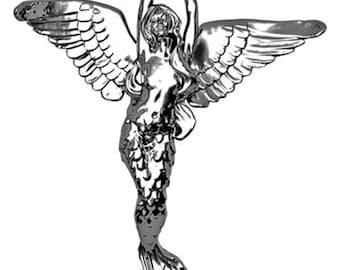 Sterling Silver Angel Mermaid pendant
