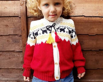 Girls cardigan, boys cardigan, toddler cardigan, girls knitted cardigan, girls sweater, boys sweater, knitted baby cardigan, Made to order