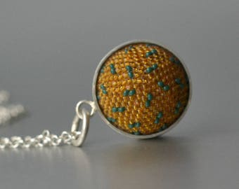 OOAK pendant  with silver chain