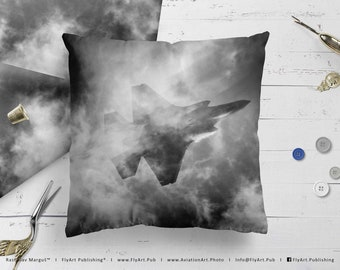 Airplane Pillow, Airplane Cushion, Throw Pillow, Pilot Gifts, Home Decor, Aircraft Pillow Case, Cover, Bedding, Lockheed F-35A Lightning II