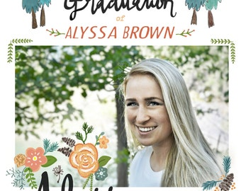Custom Personalized Graduation Invitation