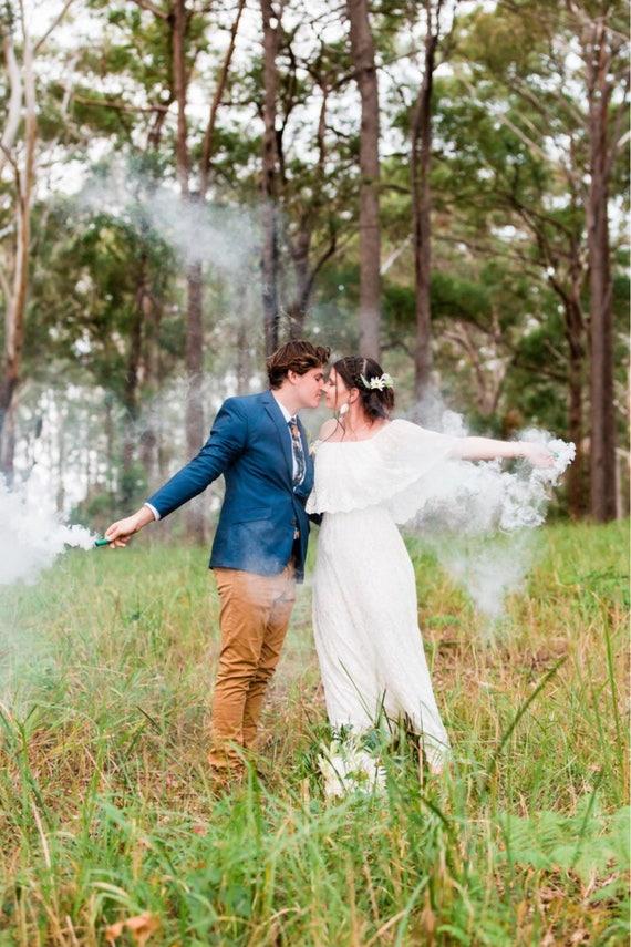 50% deposit Divine Gypsy Frill Sleeve Bridal dress with train and Veil, Bohemian wedding dress