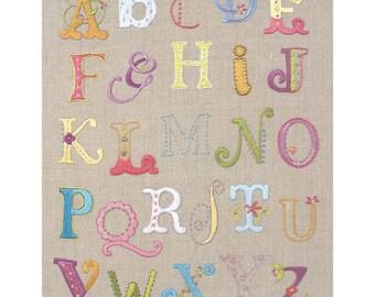 Alphabet Sampler Embroidery Kit