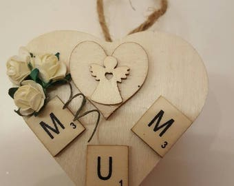 Wooden gift box. Mother's day. Gift. Mum
