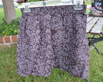 Men's Handmade Cotton Underwear Boxers Briefs by Mumtaz Creations  - Size Medium - Brown Print - Remington I905