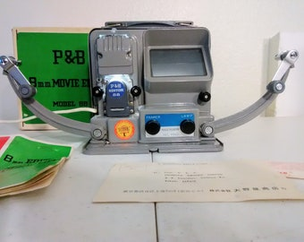 P & B 8mm Movie Editor Model 88 w/working lamp and user manual