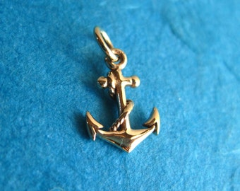 Bronze Anchor Pendant or Charm