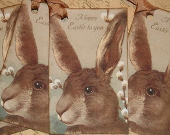 Bunny Easter Tags, Bunny Spring Tags,  A Happy Easter To You Gift Tags