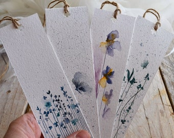 Bookmark Hand Painted Watercolor