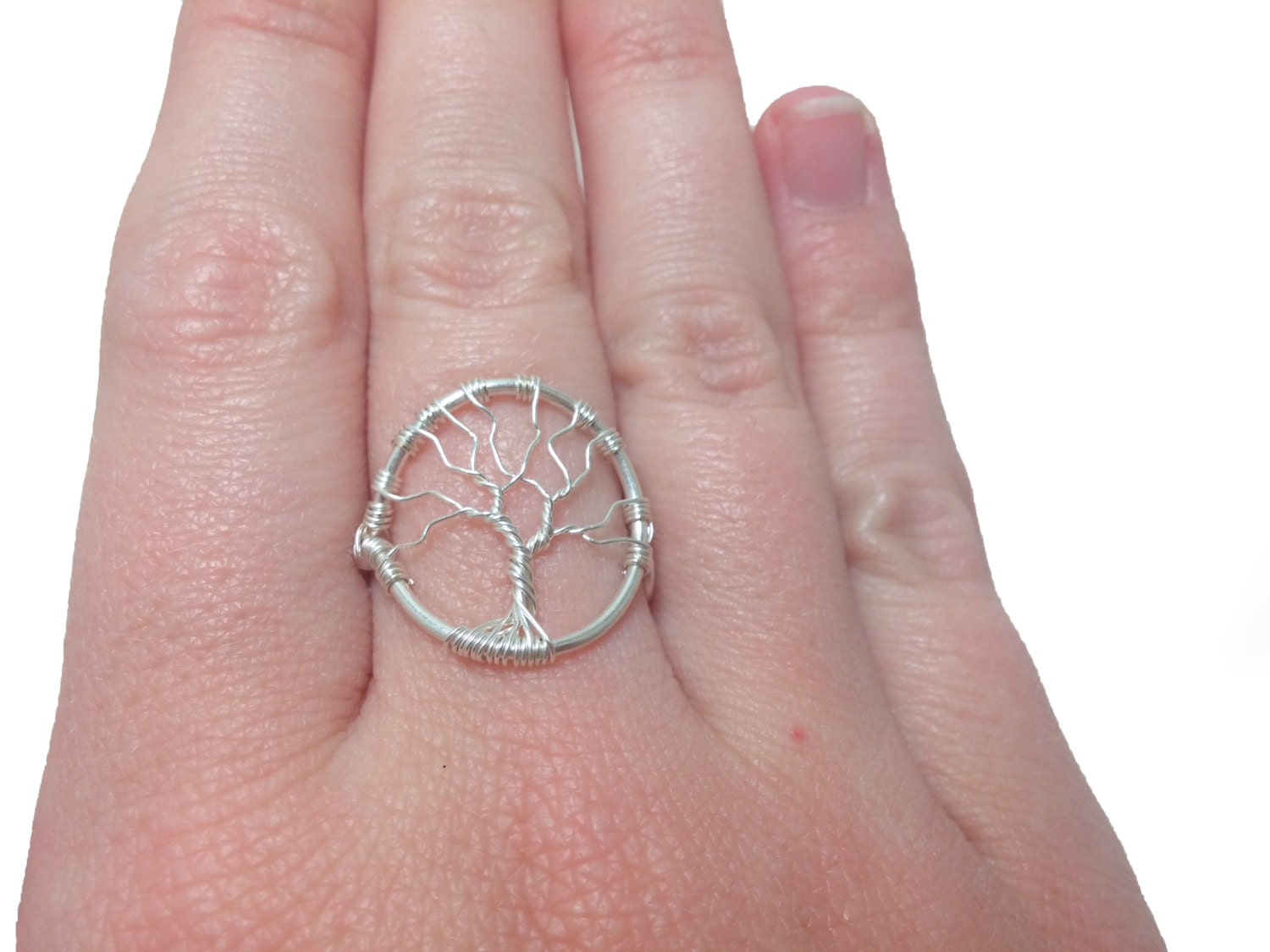 Tree of life wire wrap ring