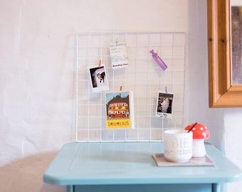 Wire Memo Board polaroid Organisation Grid 40cmx40cm