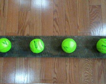 Softball hat hanger/rack