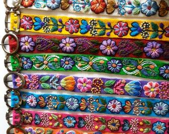 Belt in multicolor wool ethnic