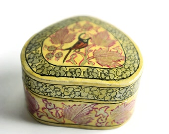 Vintage hand-painted trinket or jewellery box