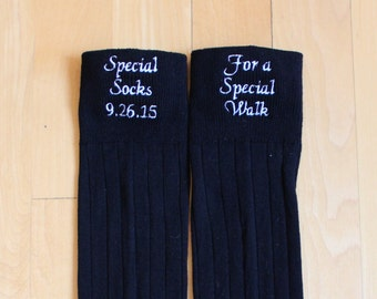 Father of Bride Socks-Special Socks for a Special Walk. Dad Wedding Gift.  Wedding Socks. Father of the Bride. Monogrammed Socks. Canada F23