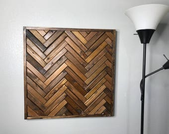 Herringbone Wooden Wall Art