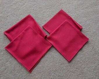 Vintage Red Cloth Napkins