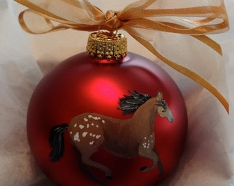 Appaloosa Horse Hand Painted Christmas Ornament - Can Be Personalized with Name