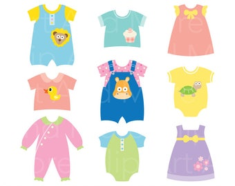 baby clothes clipart etsy rh etsy com clothing clip art free images clothes clipart for kids
