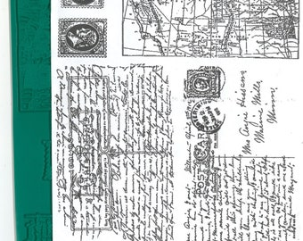 Rubber Stamp Letters, Map Stamps, Unmounted Stamps, SALE STAMPS, Postage Stamp Impressions, Script Stamps, Mixed Media Supplies, Scrapbook