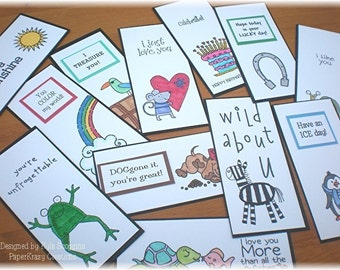 Lunch Box Love Notes 4a, Lunch Notes for Kids, Lunch Box Notes
