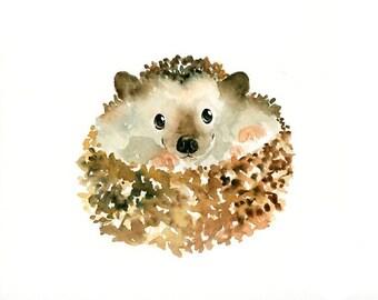 HEDGEHOG- print-Children's Decor-Art for Children-kids wall art-Nursery art -Animal lover