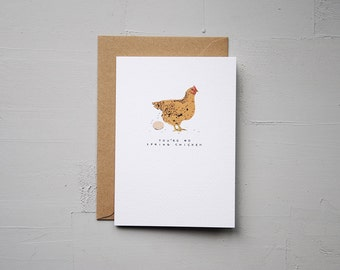 You're No Spring Chicken - Chicken Card - Funny Card - Birthday Card - Note Card - Blank Card - Animal Card - Cards