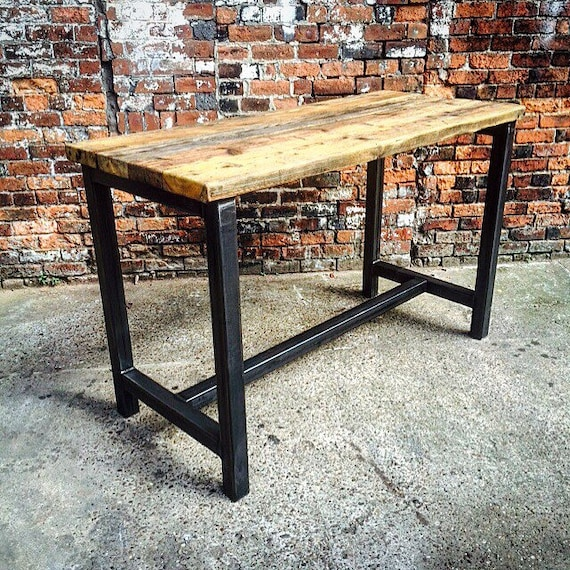 Reclaimed Industrial 8 Seater Chic Tall Poseur Dining Table