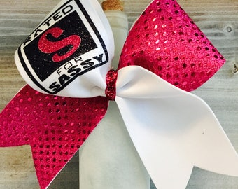 Rated S for Sassy Pink Cheer Bow