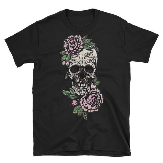Sugar Skull and Roses Short-Sleeve Unisex T-Shirt