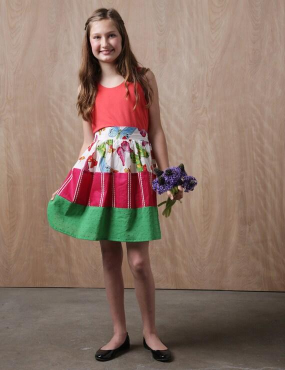 Mädchen Kleid Schnittmuster Tween Kleid Schnittmuster