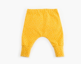 Yellow Dotties Organic Baby Pants