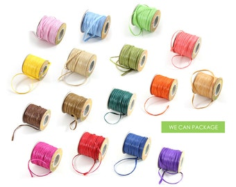 Color Raffia String Ribbon 100 Yards Craft Projects Gift Packaging Decorating with Raffia