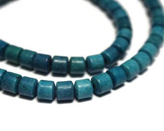 Turquoise Blue Beads Resin Beads Barrel Beads 6mm Tube Beads Full Strand Beads Stone Look Beads Spacer Beads Small Beads Jewelry Supplies