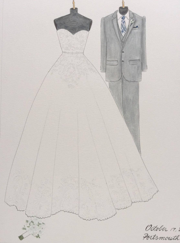 Year 2 anniversary wedding gowns