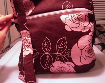 Brown & Pink Cross Body Bag
