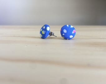 Fabric Covered Earrings