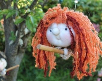 Delilah the Kitchenwitch, folklore. Good luck doll for your kitchen & home!